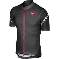 Castelli 2018 Men s ENTRATA 3 Full Zip Short Sleeve Cycling Jersey - A18010  L Light Black 71255f951