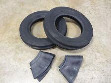 TWO New 4.00-12 Deestone D401 TriRib 3 Rib Tires & Tubes Cub Farmall & Others