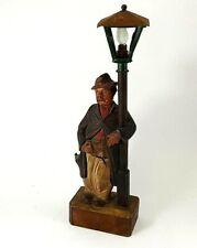 Antique Automaton Karl Griesbaum Whistler Lamp/Bank Black Forest 4 Restoration