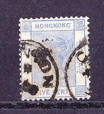 HONG KONG 1882-1902 Victoria 5c. Bleu