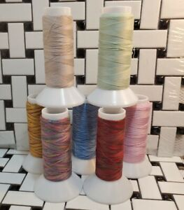 King Tut 100% Cotton Thread 40 Wt.  by Superior 2000 yd Lot of (7) Partial Cones