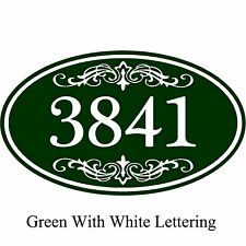 "House Address Sign Personalized Aluminum Plaque 12"" x 7"" Custom Color Scheme"