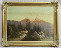 Gemälde Berge mit See