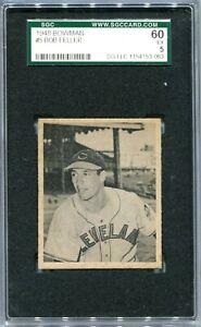1948 Bowman 5 Bob Feller Rookies SGC 60 5 EX