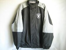 NFL Brand Oakland Raiders Silver And Black Water Resistant Football Jacket Large