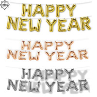 FOIL BALLOON HAPPY NEW YEAR SELF INFLATING Banner Bunting Eve Party Decor Xmas
