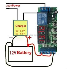 12v Automatic Battery Charger Charging Controller Protection Board LED Display