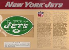 AFL 1963 NY NEW YORK JETS OFFICIAL JERSEY PATCH NFL GOLDEN AGE WILLABEE WARD