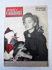 SORRISI E CANZONI-ANNO III-N.51-19 DICEMBRE 1954-SOPHIA LOREN