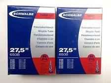 2x Schwalbe Extra Brillante (sv21a) 650b / 27.5 x 1.5-2.4 pulgadas Presta TUBOS