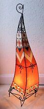 Painted Moroccan Henna Floor Lamp-  Square- orange 100CM