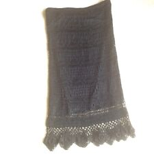 black crochet skirt size 12 evening  evening party
