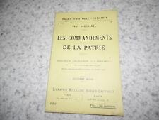 1917.Pages d'histoire 122.les commandements de la patrie.14-18.Deschanel