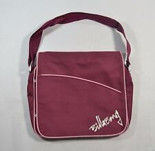 Billabong HANDEL Mauve Pink Multi-Pockets Book Bag Cross Body Messenger
