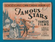 TRADE/ cigarette cards set Famous Stars in Famous Films 1930's RARE schoolgirl's