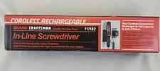 New in Box Vintage Craftsman Cordless Rechargeable In-Line Screwdriver 911182