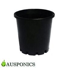 20x 4 LITRE 200 x 190MM BLACK PLASTIC POTS With Holes For Hydroponics