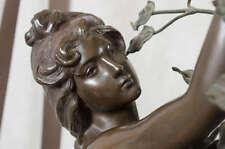 19C French Gothic Art Nouveau Bronze Patina Beautiful Lamp