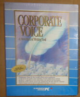 Corporate Voice, by Scandinavian PC Systems, 1989. BRAND NEW, SEALED. For IBM PC