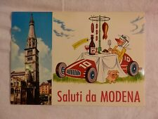 Vecchia foto cartolina d epoca di Modena campanile lambrusco case chiesa di da