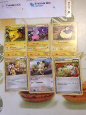 Carte Pokemon lot de 6 trainer kit Raichu TK4-R sans double