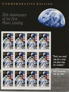 1994 29 cent Moon landing full Sheet of 12, Scott #2841, Mint NH