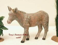 "Fontanini Depose Italy 7.5"" Standing Donkey Nativity Village Animal New No Box"