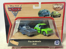 Disney Cars 2 WOOD Collection Set - Finn McMissile & Acer VERY RARE