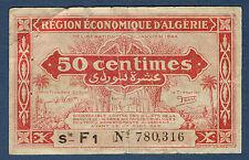 ALGERIE - 50 centimes - Pick n° 97 b de 1944 en TB Série F1 N° 780,316