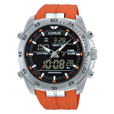 LNP RW621AX9 Lorus Mens Gents Dual Display Chronograph Alarm Rubber Strap Watch