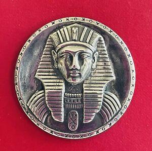 EX Scarce EGYPTIAN PHAROAH French White Metal Button, Ca.,1930s-1940s