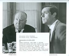 ALFRED HITCHCOCK FREDERICK STAFFORD ON SET OF TOPAZ 1967 UNIVERSAL MOVIE PHOTO