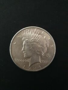 1924 Liberty Peace Silver US One Dollar