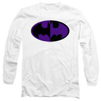 BATMAN SPLIT SYMBOL Licensed Adult Men's Long Sleeve Tee Shirt SM-3XL