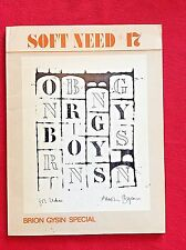 BRION GYSIN   SOFT NEED 17  BRION GYSIN SPECIAL  1977  B&W Illus Softcover  RARE