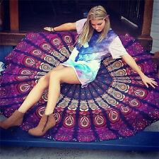 150CM Large Beach Towel Bohemian Beach Towel Round Tapestry Blanket Yoga Shawl