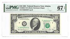 1981 $10 ATLANTA FRN, PMG SUPERB GEM UNCIRCULATED 67 EPQ BANKNOTE
