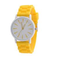 NEW Fashion Silicone Rubber Band Unisex Quartz Analog Sports Wrist Watch Women