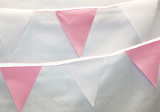 Pink and White bunting * 10 mtr * Party / Birthday / Wedding / Christening