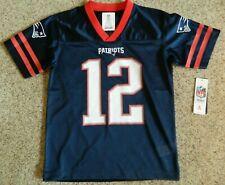 Tom Brady/New England Patriots youth 8/10 blue jersey