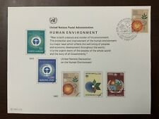 "United Nations 1982 Scott SC21 Souvenir Card FDC Set ""Human Environment"""