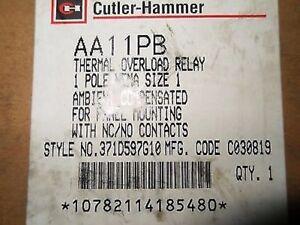 (C2) 1 CUTLER HAMMER AA11PB OVERLOAD RELAY
