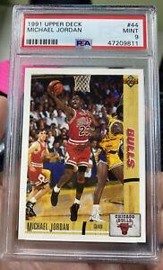 1991 Upper Deck Michael Jordan Basketball PSA 9 Mint Chicago Bulls NBA #44