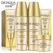 Bioaqua 5PCS Extracto Caracol Kits De Suero Tónico Loción De Cuidado De La Piel Crema BB Crema de Ojos