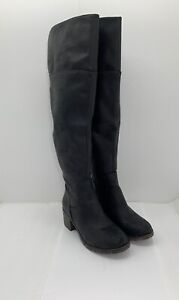 Juniors Women's SO Black Over-The-Knee Platform Boots Size 7 M NEW