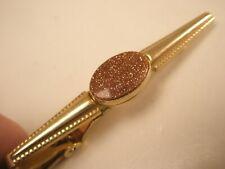 -Gold Stone Fancy Vintage ANSON Tie Bar Clip