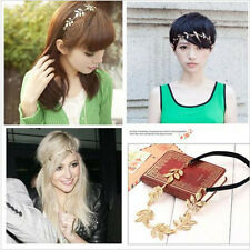 Elegant woman Girls dainty Retro Vintage Hollow Leaf Elastic Hair Band Headband