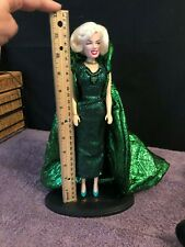 "12"" Marilyn Monroe w/stand and Beautiful Green Gown"