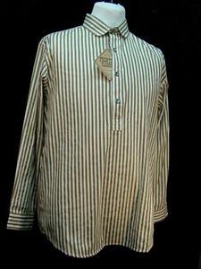 Cowboy Old West Reenactment mens Frontier Classics TAN Stripe Shiloh shirt