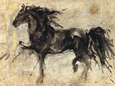 THE CLASSIC BOMBAY STORE COMPANY HORSE ART PRINT poster of famous black horse